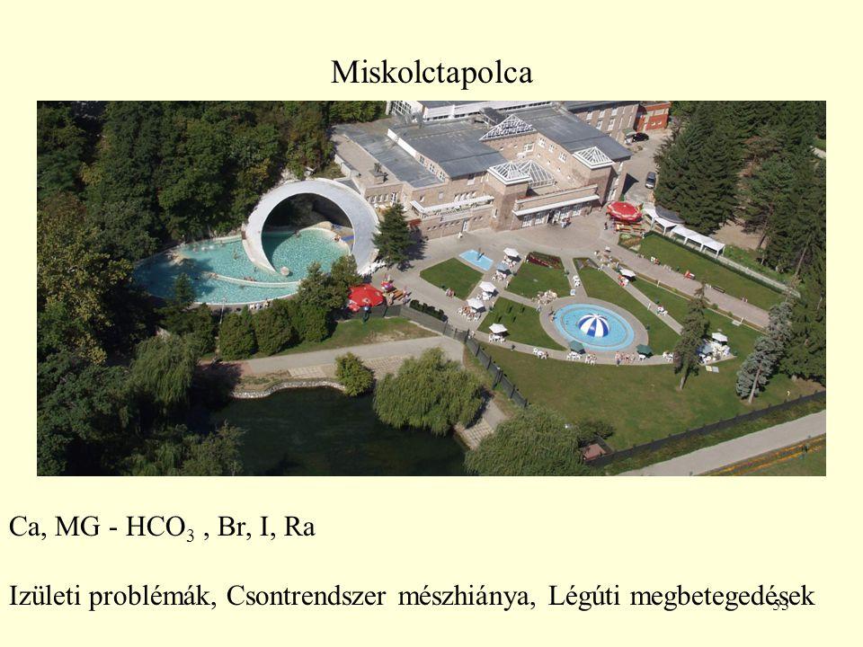 Miskolctapolca Ca, MG - HCO3 , Br, I, Ra