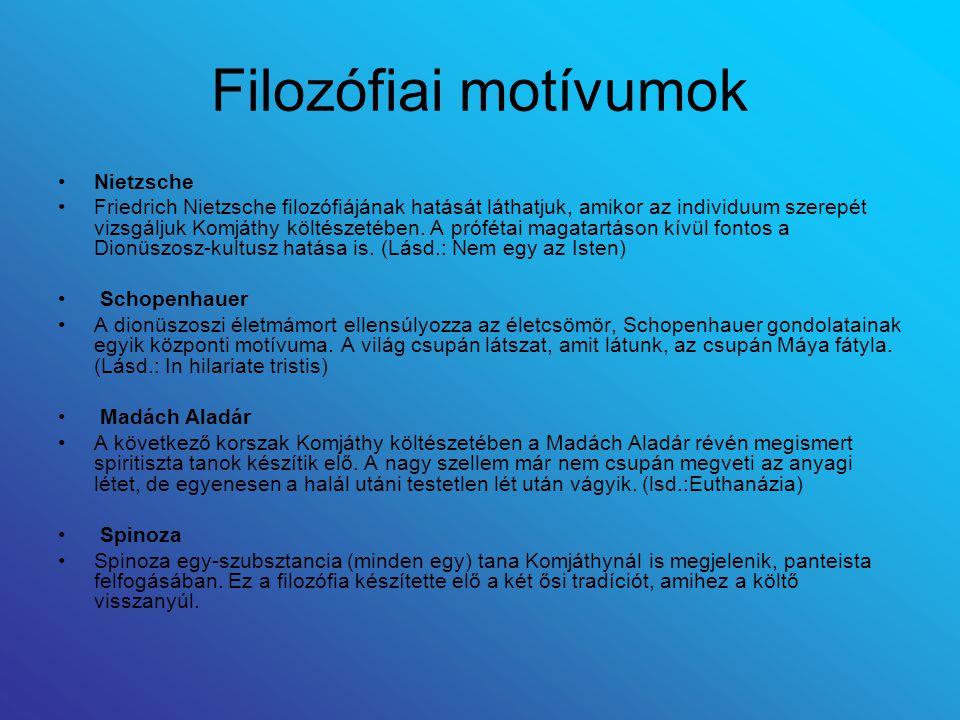 Filozófiai motívumok Nietzsche