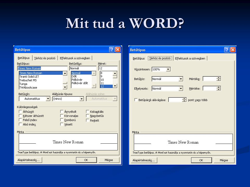 Mit tud a WORD