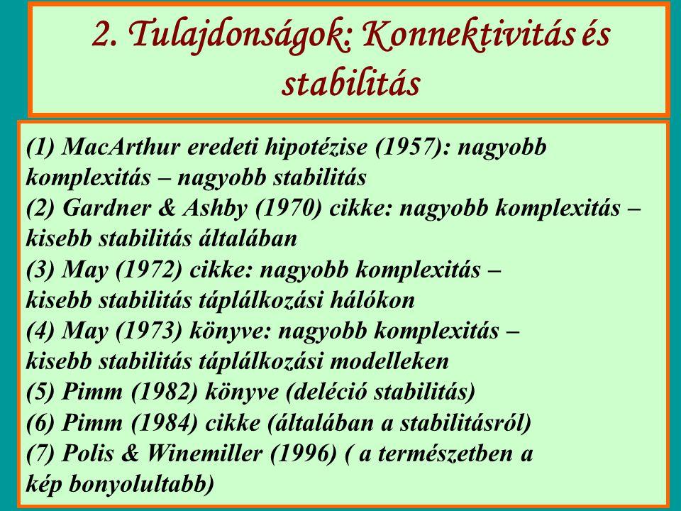 2. Tulajdonságok: Konnektivitás és stabilitás