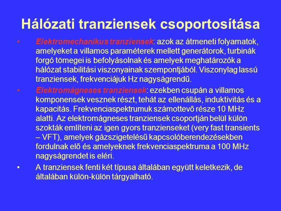 Hálózati tranziensek csoportosítása