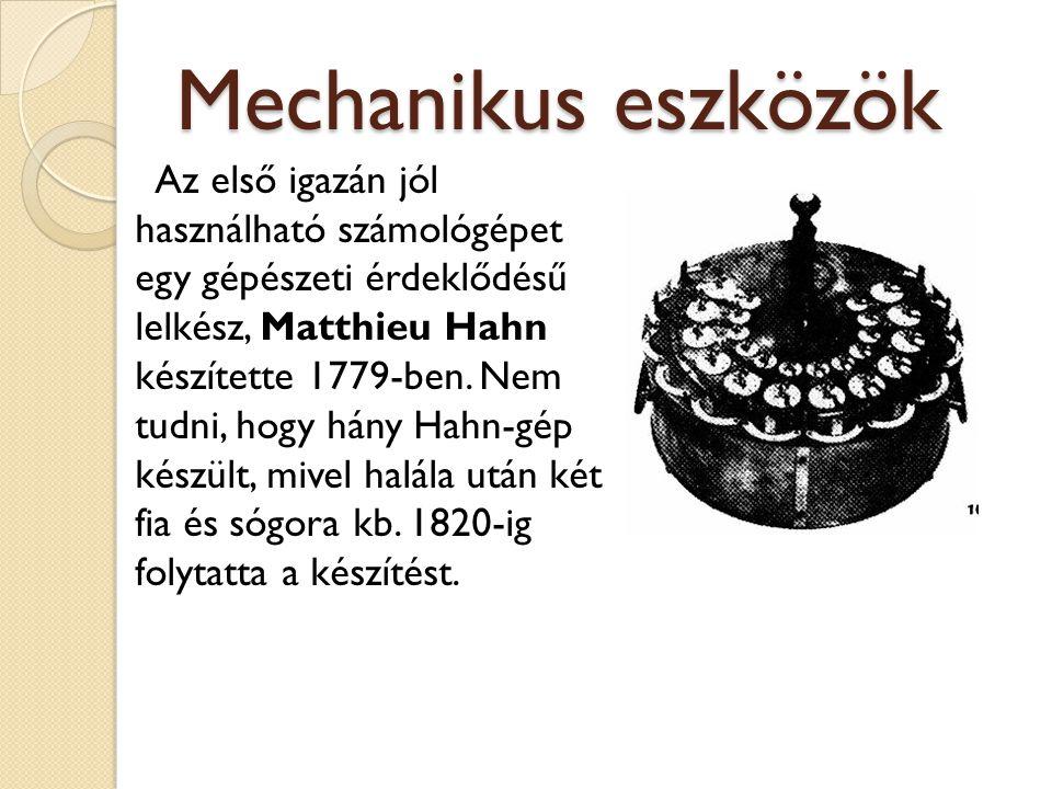 Mechanikus eszközök