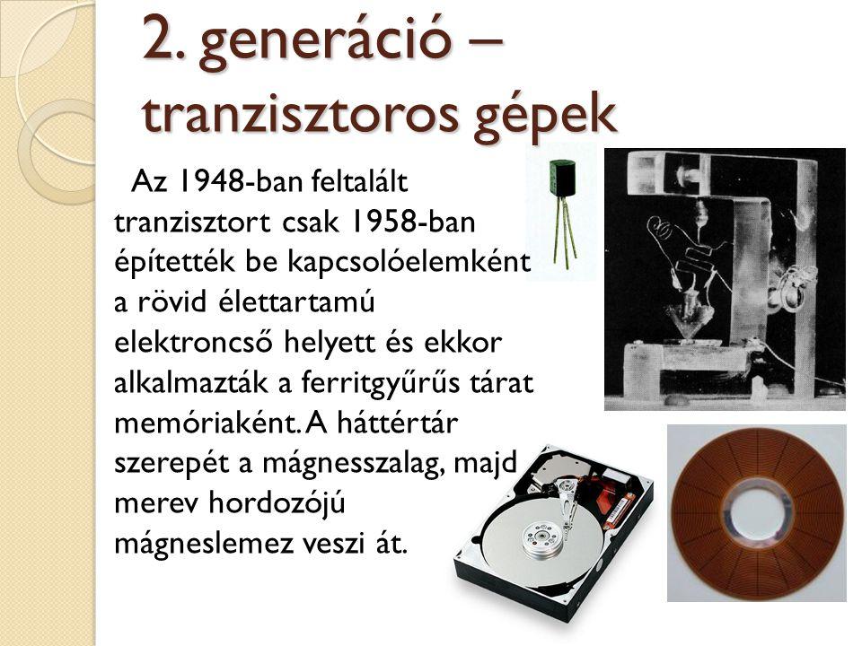 2. generáció – tranzisztoros gépek