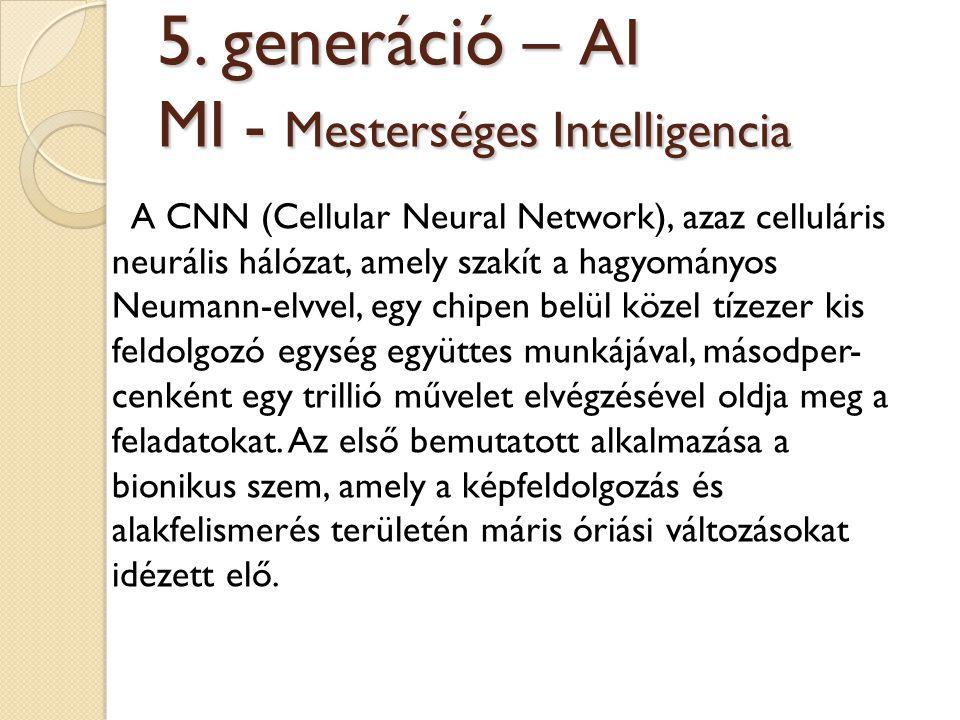 5. generáció – AI MI - Mesterséges Intelligencia