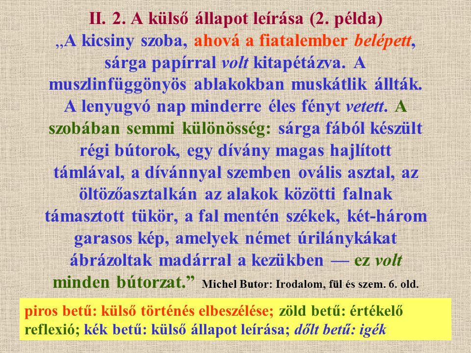 II. 2. A külső állapot leírása (2
