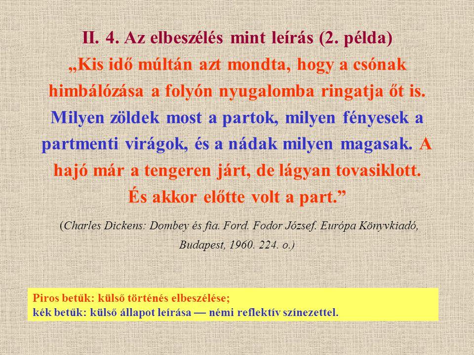 II. 4. Az elbeszélés mint leírás (2