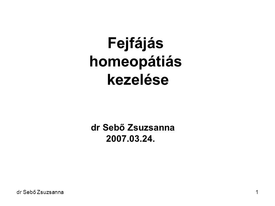 Fejfájás homeopátiás kezelése