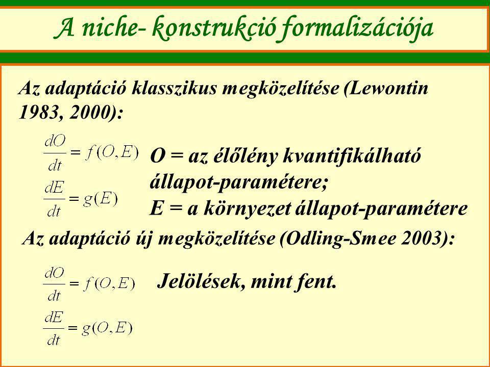 A niche- konstrukció formalizációja