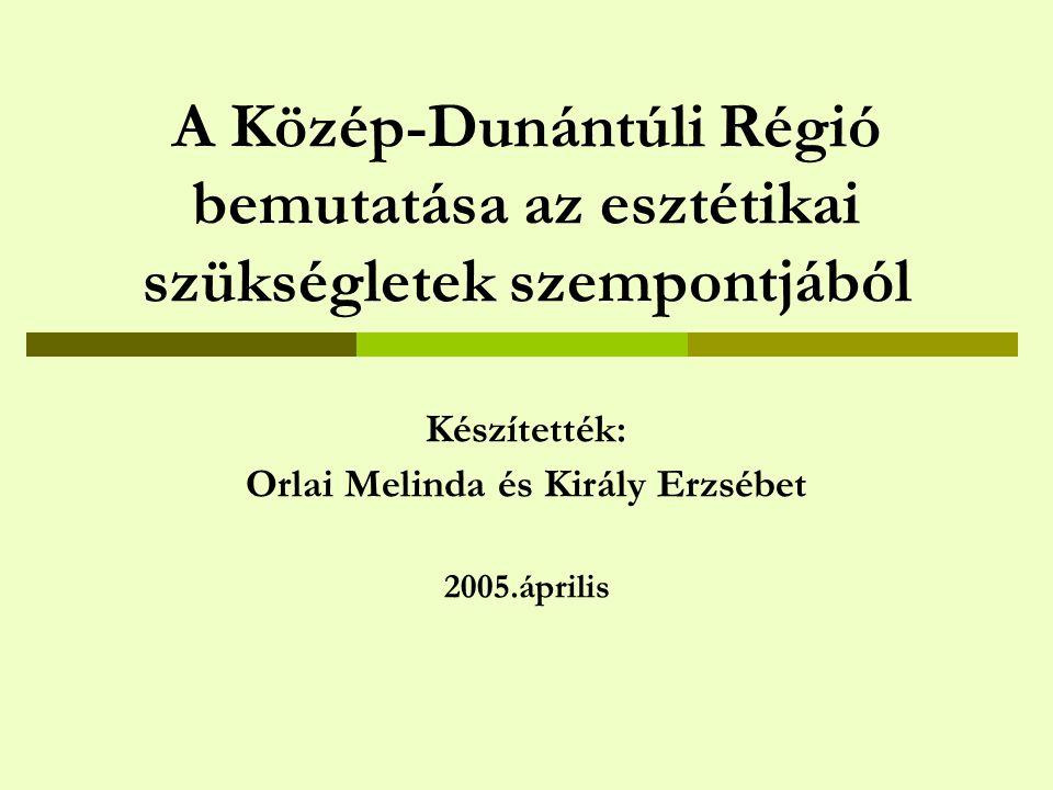 Készítették: Orlai Melinda és Király Erzsébet 2005.április