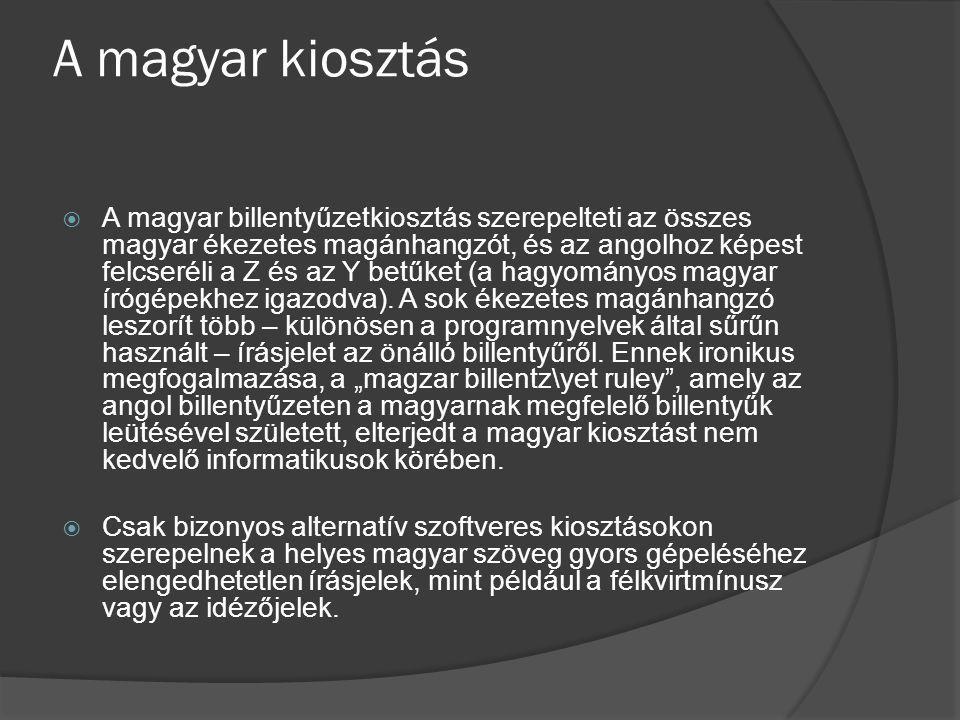 A magyar kiosztás