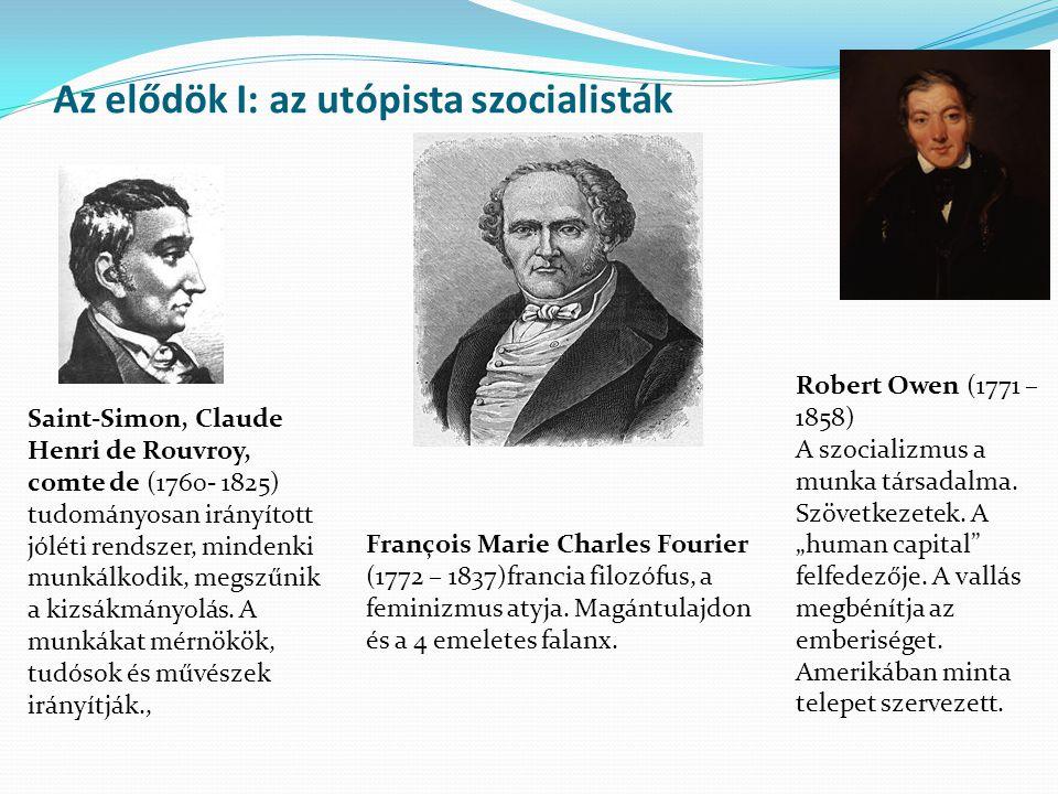 Az elődök I: az utópista szocialisták