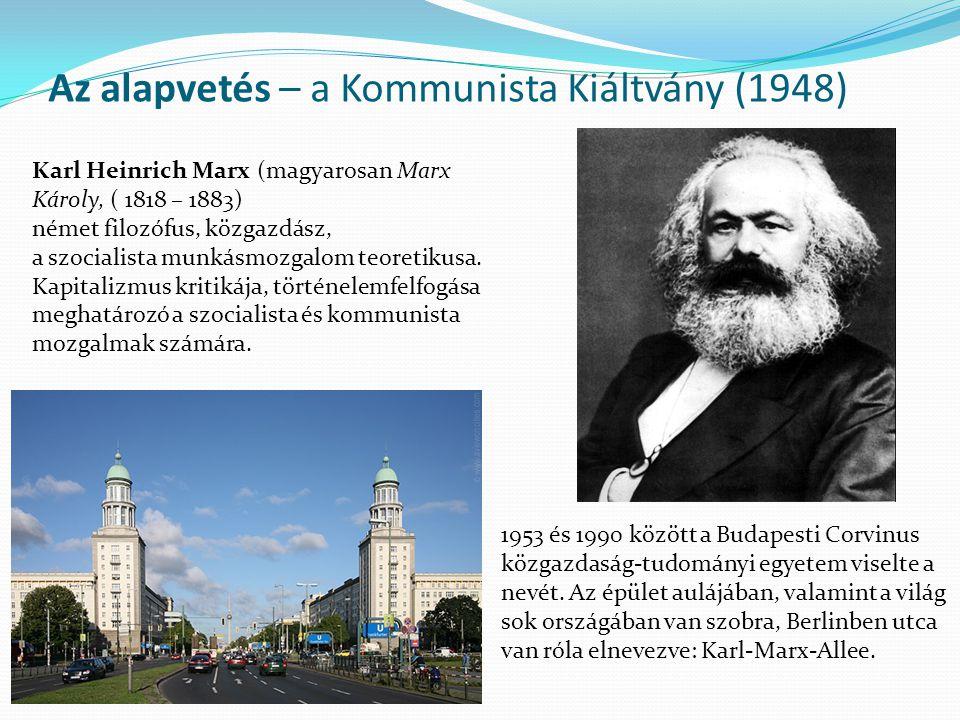 Az alapvetés – a Kommunista Kiáltvány (1948)