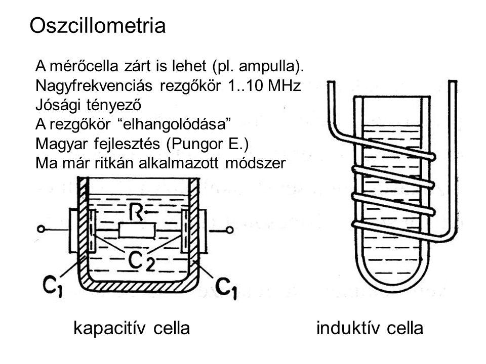 Oszcillometria kapacitív cella induktív cella