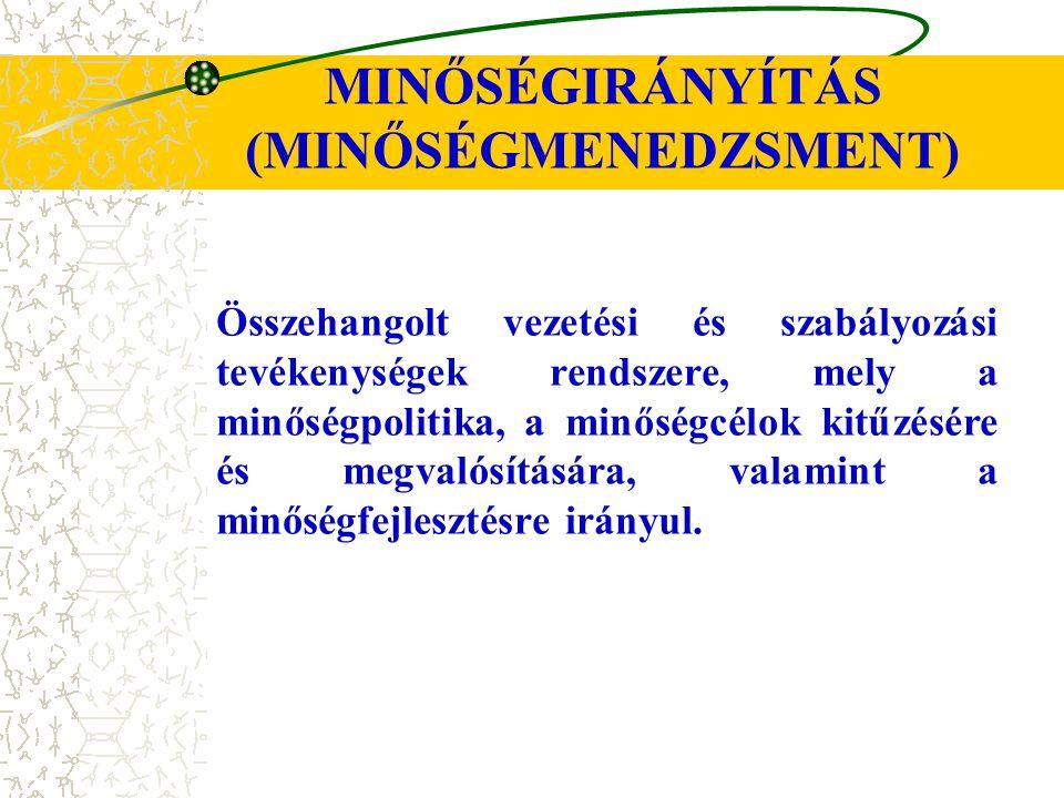 MINŐSÉGIRÁNYÍTÁS (MINŐSÉGMENEDZSMENT)