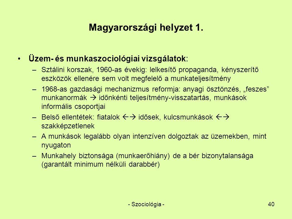 Magyarországi helyzet 1.