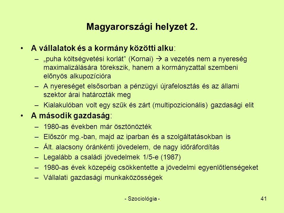 Magyarországi helyzet 2.