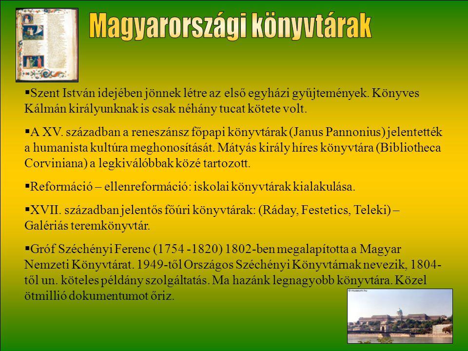 Magyarországi könyvtárak