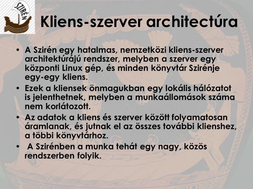 Kliens-szerver architectúra