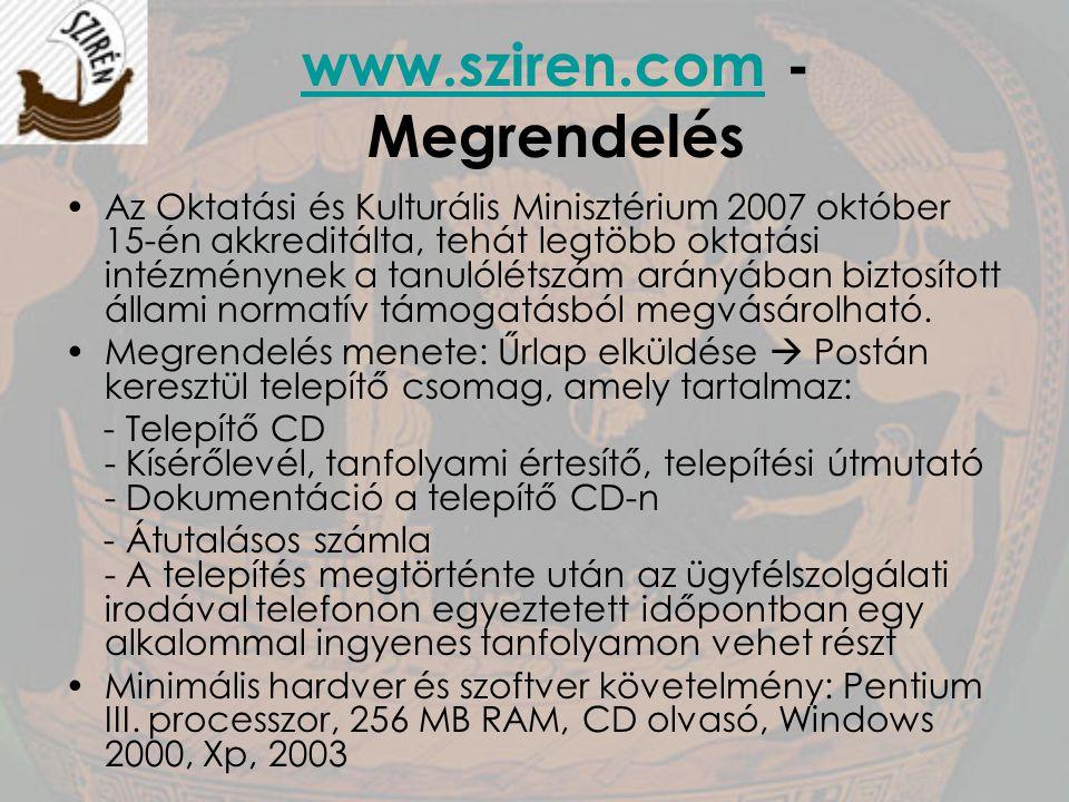 www.sziren.com - Megrendelés