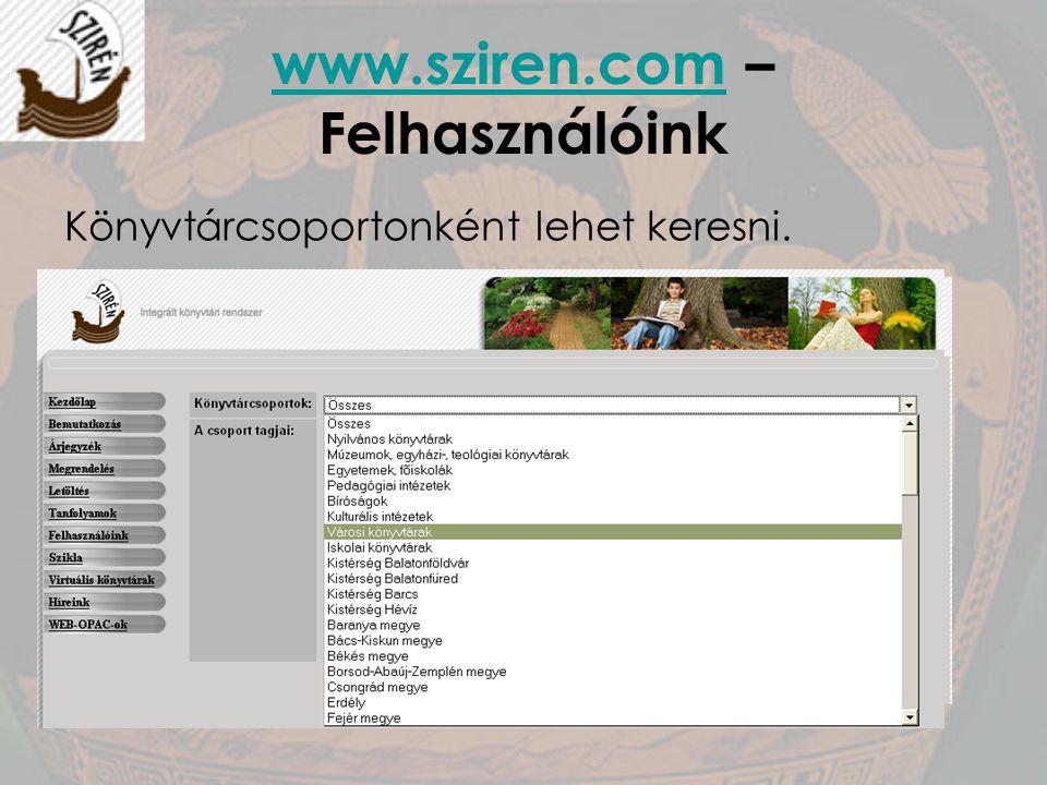 www.sziren.com – Felhasználóink