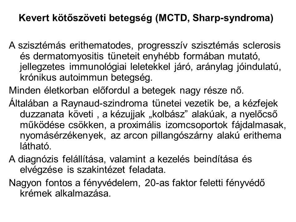 Kevert kötőszöveti betegség (MCTD, Sharp-syndroma)