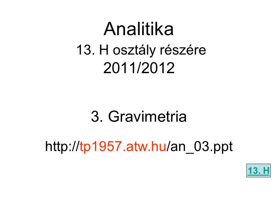 Analitika 13. H osztály részére 2011/2012