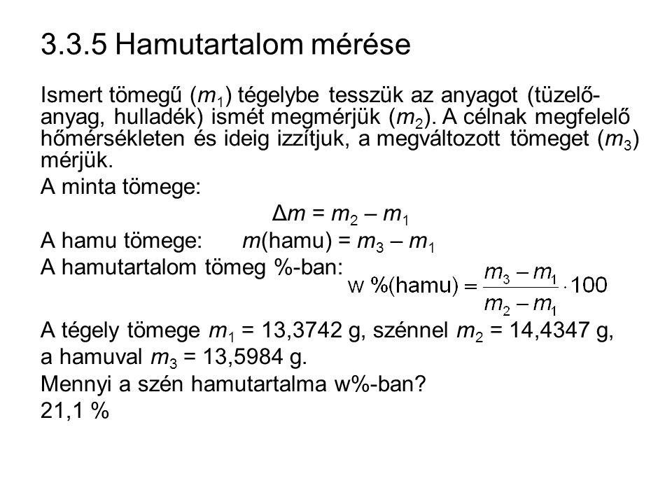 3.3.5 Hamutartalom mérése