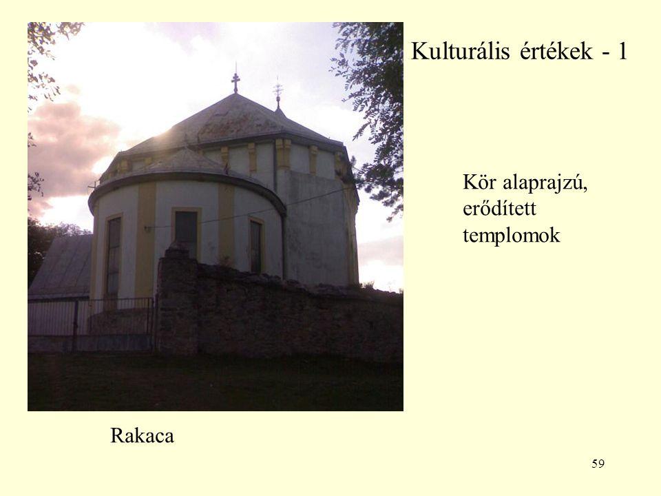 Kulturális értékek - 1 Kör alaprajzú, erődített templomok Rakaca