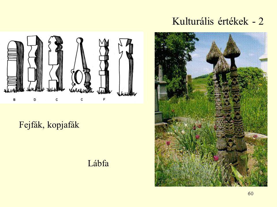 Kulturális értékek - 2 Fejfák, kopjafák Lábfa