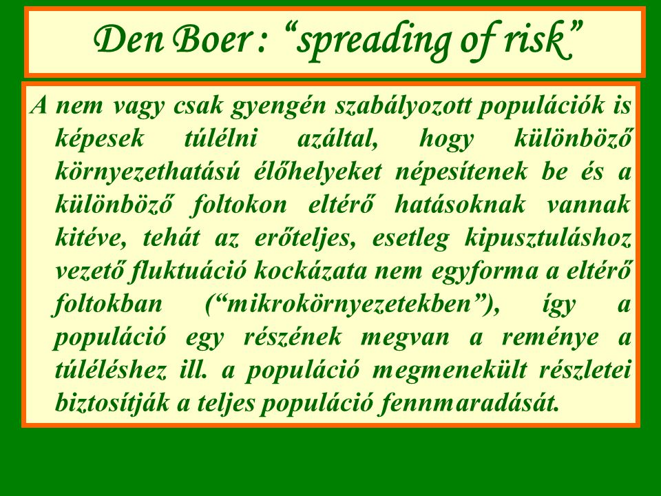 Den Boer : spreading of risk