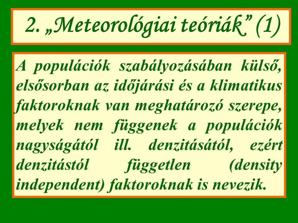 """2. """"Meteorológiai teóriák (1)"""