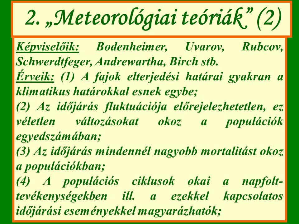 """2. """"Meteorológiai teóriák (2)"""