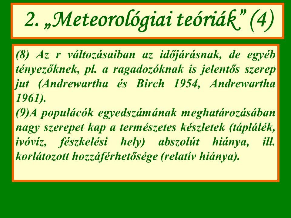 """2. """"Meteorológiai teóriák (4)"""