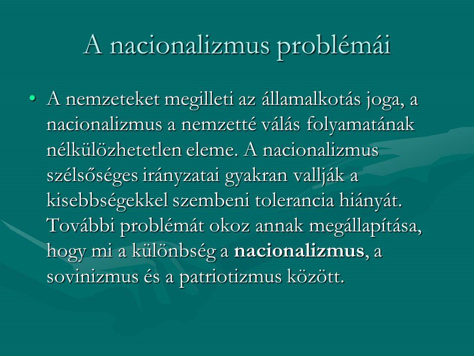 A nacionalizmus problémái