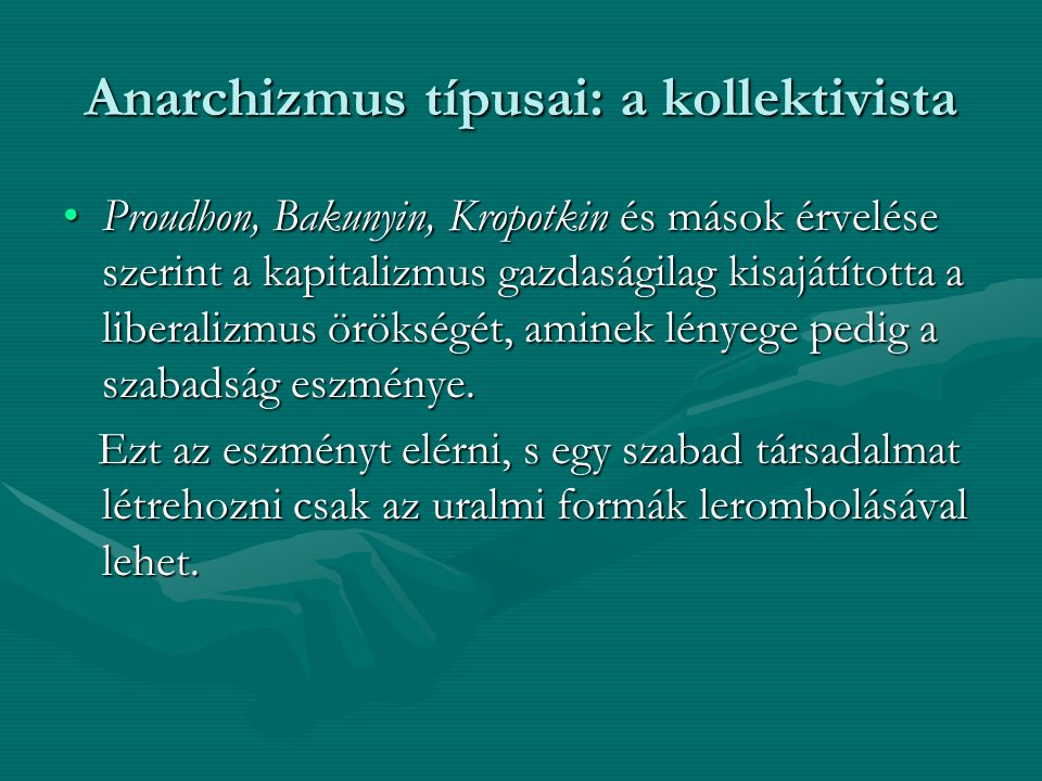 Anarchizmus típusai: a kollektivista