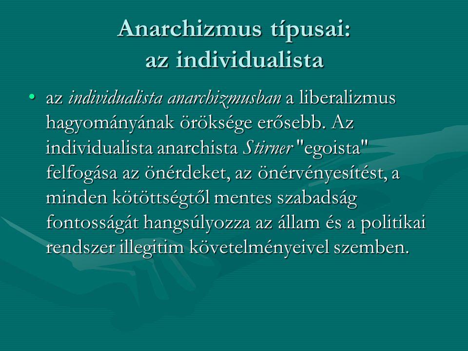Anarchizmus típusai: az individualista
