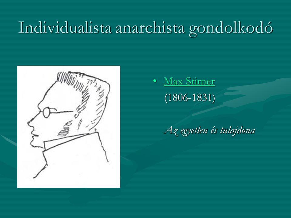 Individualista anarchista gondolkodó