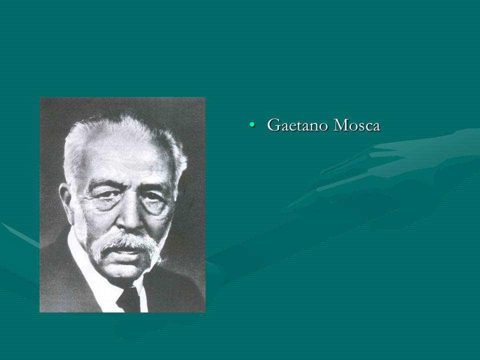 Gaetano Mosca A kifejezés társadalomtudományi használatát Gaetano Mosca alapoz-