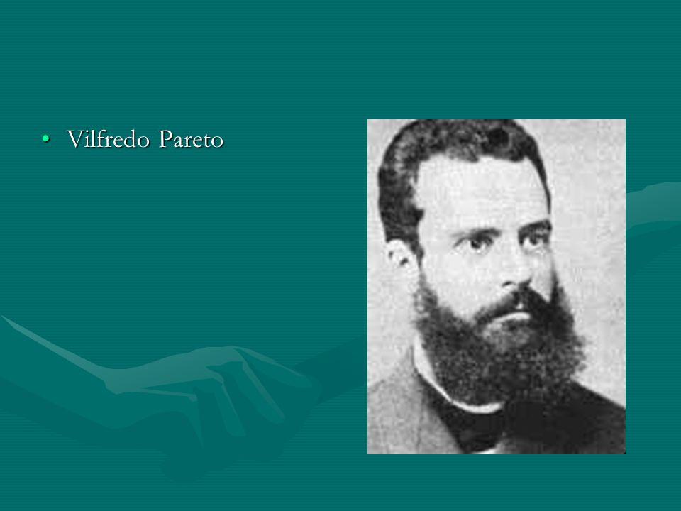 Vilfredo Pareto Az elitelmélet másik klasszikusa Vilfredo Pareto volt, aki az 1910-es. években írott szociológiai munkájában fejtette ki nézeteit.