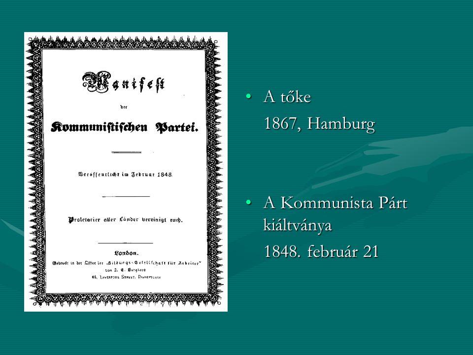 A Kommunista Párt kiáltványa 1848. február 21