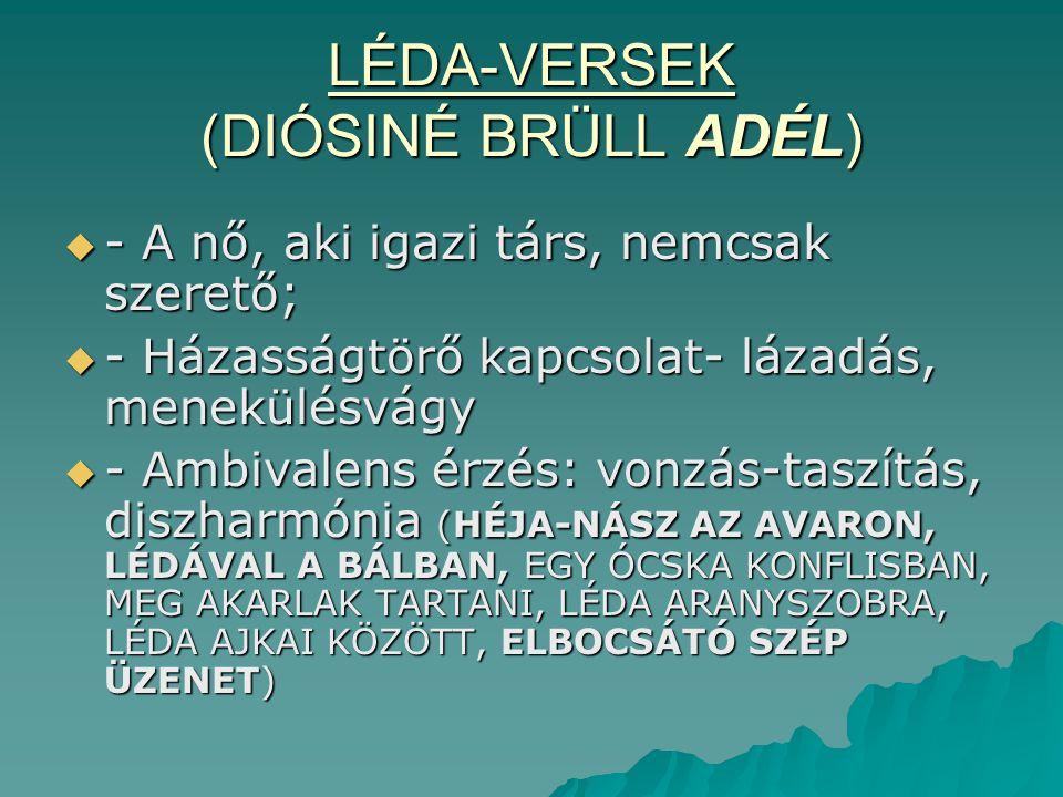 LÉDA-VERSEK (DIÓSINÉ BRÜLL ADÉL)