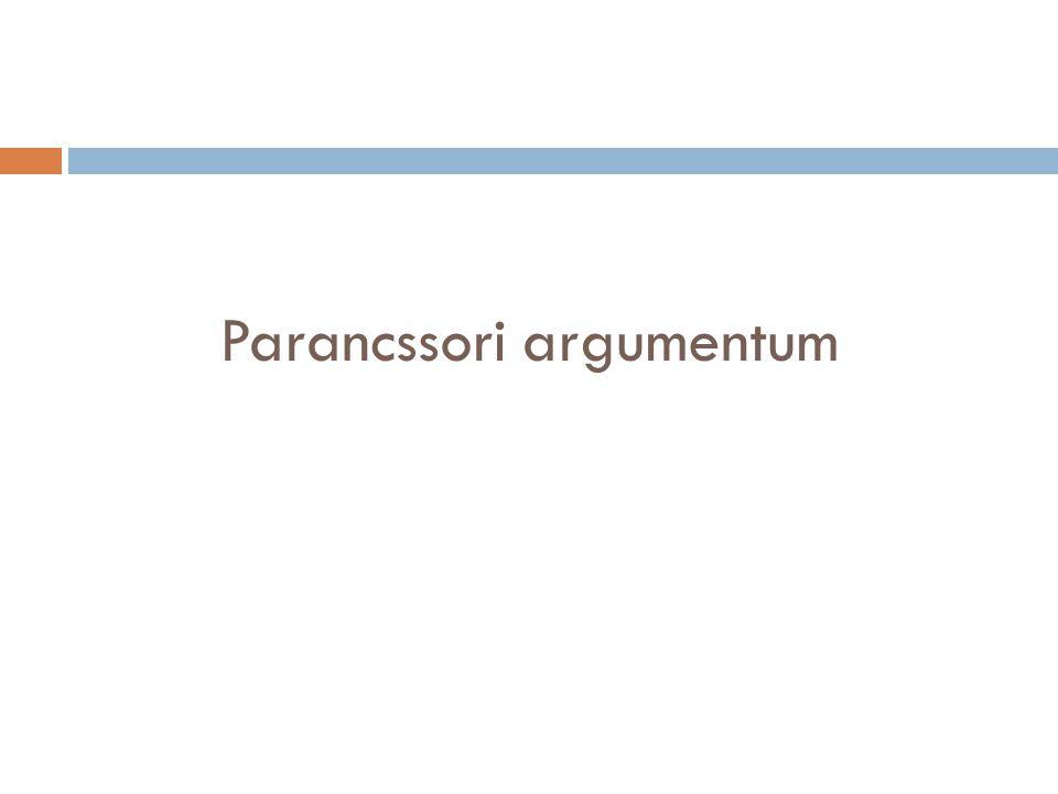 Parancssori argumentum