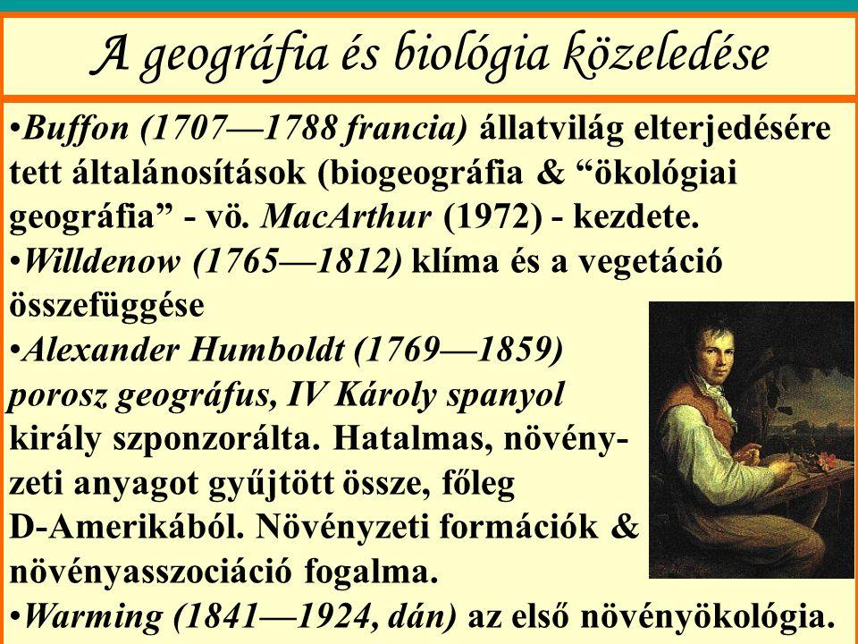 A geográfia és biológia közeledése