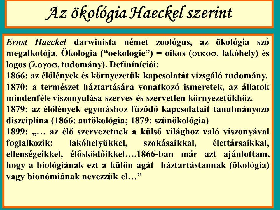 Az ökológia Haeckel szerint