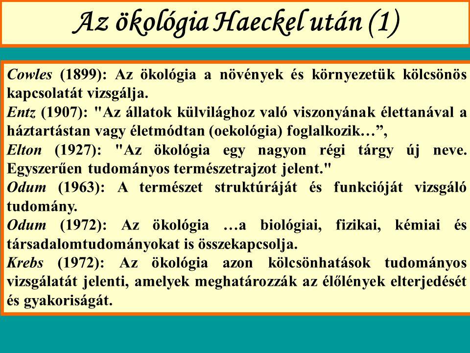 Az ökológia Haeckel után (1)