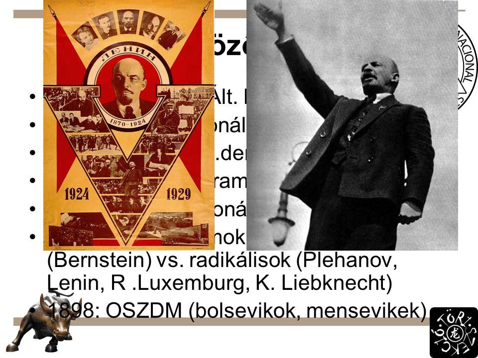 Különböző irányok 1863: Lassalle – Ált. Német Munkásegylet
