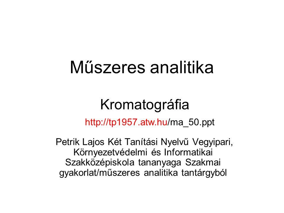 Műszeres analitika Kromatográfia http://tp1957.atw.hu/ma_50.ppt