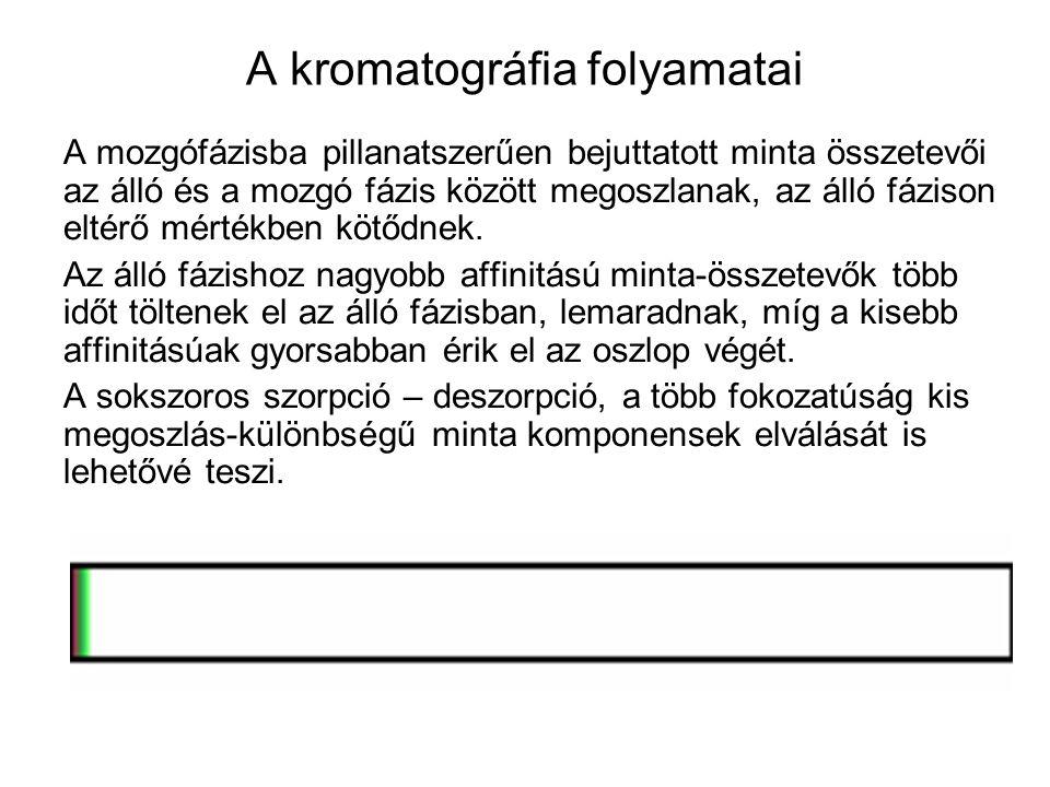 A kromatográfia folyamatai