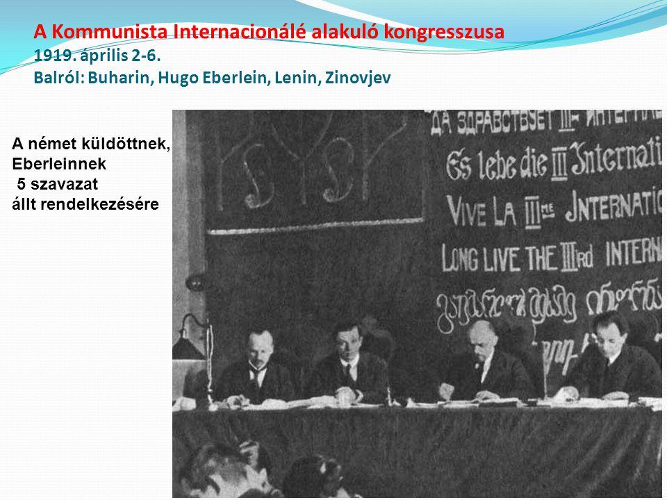 A Kommunista Internacionálé alakuló kongresszusa 1919. április 2-6