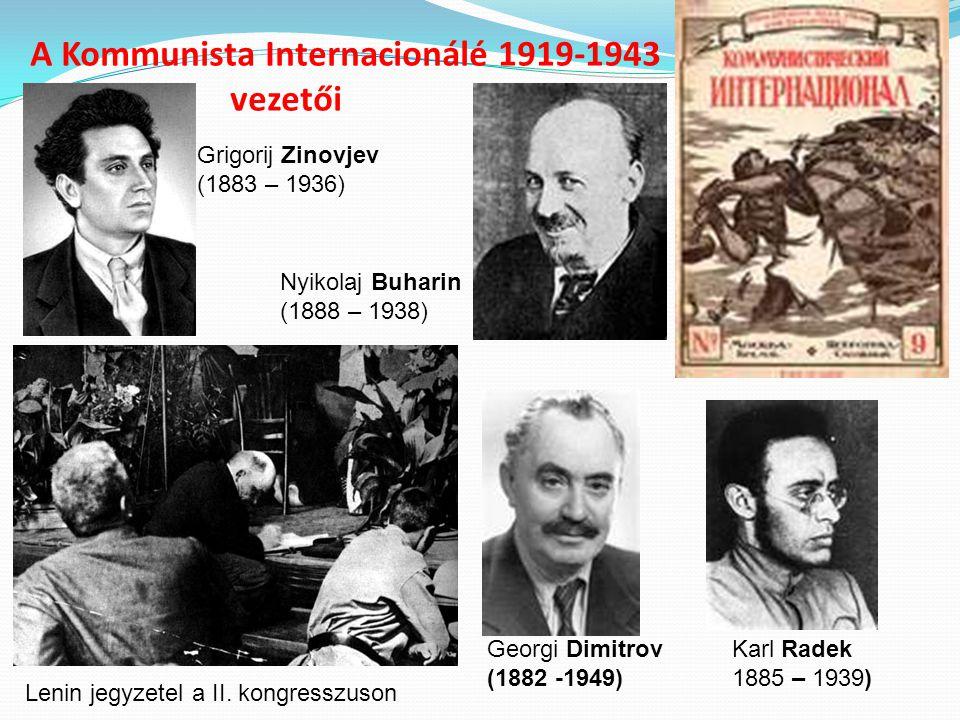 A Kommunista Internacionálé 1919-1943 vezetői